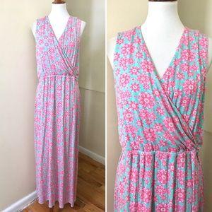 NEW Vineyard Vines Jersey Floral Maxi Dress XL